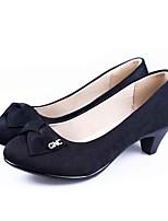 Da donna Tacchi Comoda Scarpe formali Tessuto Primavera Estate Quotidiano Formale Comoda Scarpe formali Basso Nero 5 - 7 cm
