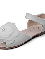 Girls' Sandals Comfort Flower Girl Shoes Leatherette Spring Fall Wedding Outdoor Office & Career Party & Evening Dress CasualApplique