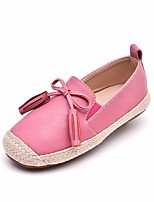 Girls' Flats First Walkers Leatherette Spring Fall Casual Walking First Walkers Magic Tape Low Heel Khaki Blushing Pink Gray Flat