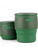 Tazas de Viaje / taza Plegable para Utensilios de Viaje para Comida y Bebida Gel de sílice