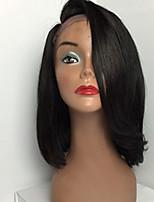 9A Grade Lace Front Human Hair Bob Wigs Straight Hair for Woman New Stlye Human Virgin Hair Bob Wig with Side Bang
