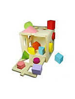 Pegged Puzzles For Gift  Building Blocks Square Wood 2 to 4 Years 5 to 7 Years Toys