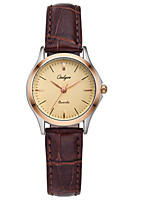 Women's Fashion Watch Quartz Water Resistant / Water Proof Leather Band Casual Brown