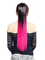 Neitsi 1Pcs 22'' 115g Striaght Wrap Around Ponytail Hair Extensions Synthetic Ombre T-Rose#