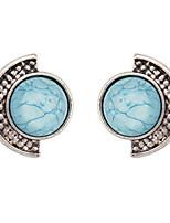 Euramerican  Vintage  Elegant  Ball  Earpins  Lady  Business Round  Stud  Earrings Gift  Jewelry