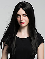 Comfortable Natural black long straight hair Synthetic Wigs For woman