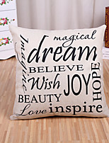 1 Pcs Believe Dream Letter's Sayings Printing Pillow Cover Sofa Cushion Cover Cotton/Linen Pillow Case