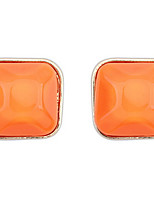 Euramerican Fashion Sweet Temperament Square Stud Earrings Lady Daily Stud Earrings Movie Jewelry