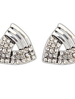 Euramerican Triangle  Elegant  Silver Rhinestone Women's  Daily  Stud Earrings Movie Jewelry