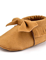 Newborn Baby Kids' Loafers & Slip-Ons First Walkers Microfibre Fall Winter Party & Evening Dress Casual Bowknot Tassel Flat HeelKhaki Dark Purple Dark