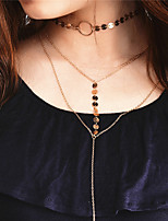Chain Necklaces Collar Necklace Necklace Jewelry Euramerican Fashion Personalized Copper Irregular Necklaces ForSpecial Occasion Business