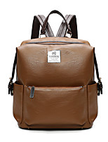 Women Backpack PU All Seasons Formal Sports Casual Camping & Hiking Outdoor Office & Career Shopping Bucket Zipper Green Brown