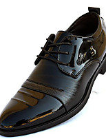 Men's Sneakers PU Spring Black Flat