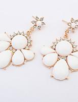 Women's Drop Earrings Unique Design Flower Style Petals Heart Euramerican Fashion Personalized Simple Style Resin Alloy Heart Flower