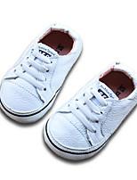 Девочки На плокой подошве Обувь для малышей Кожа Весна Осень Для прогулок Повседневный Для прогулок На липучках На низком каблукеБелый