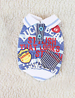 Dog Clothes/Jumpsuit Dog Clothes Casual/Daily Fashion British Ruby Blue