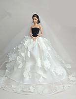 Свадьба Платья Для Кукла Барби Платье Для Девичий игрушки куклы