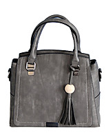 L.WEST Women's The Large Capacity Tassel Tote
