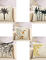 Set Of 5 Vintage Botanical Tree Pattern Pillow Case Classic Cushion Cover 45*45Cm Pillow Cover