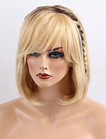 Lovely Youthful Gradient Color Natural Straight Bob Hair Style Human Hair Wigs
