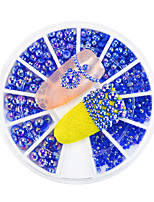 1pcs New Nail Art 3D Flatback Pearls Decoration Mixed 1.5/2/2.5/4mm Dark Blue AB Crystal Pearl Gorgeous Accessories Nail Art DIY Beauty