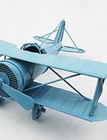 Vintage Theme Iron Metallic Wrought Iron Decorative Accessories Sheet Iron Aircraft Decoration