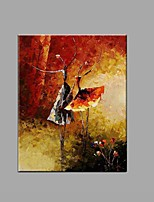 Hand-Painted Abstract Knife Ballet Girl Oil Painting For Home Decoration Stretched Frame Ready To Hang