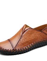 Для мужчин Туфли на шнуровке Удобная обувь Светодиодные подошвы Полиуретан Лето Осень Для прогулок Повседневный На плоской подошвеЧерный