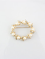 Women's Brooches Circular Alloy Round Jewelry For Wedding Party Special Occasion Party/Evening Party/ Evening Event/Party Dailywear Daily
