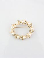 Dámské Brože Kruhy Slitina Round Shape Šperky Pro Svatební Párty Zvláštní příležitosti Párty a večerní akce Večírek Na den Denní