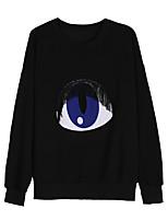Sweatshirt Homme Quotidien Couleur Pleine Motif Col Arrondi non élastique Coton Manches longues Printemps Automne