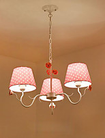 Chandelier  Artistic Country Painting Feature for Designers Metal Bedroom Girls Room Shops/Cafes 3 Bulbs