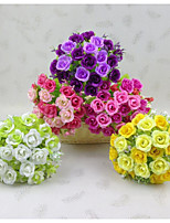 5 / Group 21 Head Beam Diamond Rose 7 Fork Spring Scenery Small Rose Mei Flower Buds Simulation Of Artificial Plastic Flowers