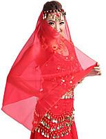 Dança do Ventre Decoração de Cabelo Mulheres Apresentação Tule Lantejoulas 1 Peça Tiaras