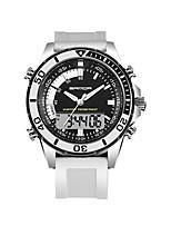 SANDA Hombre Reloj Deportivo Reloj Militar Reloj Smart Reloj de Moda Reloj de Pulsera Japonés DigitalLED Dos Husos Horarios Monitores