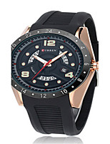 Hombre Reloj Deportivo Reloj de Moda Cuarzo Silicona Banda Negro Azul
