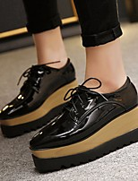 Women's Sneakers Comfort PU Spring Casual Black 1in-1 3/4in