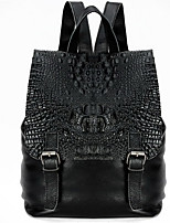 Women Backpack Cowhide All Seasons Casual Sports Formal Traveling Weekend Bag Zipper Black