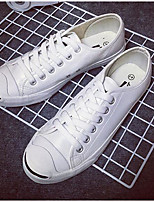 Men's Sneakers Comfort PU Spring Casual White Black Flat