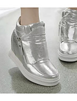 Women's Heels Comfort PU Spring Casual Silver Black White Flat