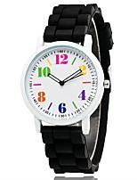 Жен. Муж. Модные часы Китайский Кварцевый силиконовый Группа Повседневная Элегантные часы Черный Белый Синий Зеленый Розовый