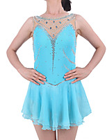 Ice Skating Dress Women's Girls' Sleeveless Skating Skirts & Dresses Dresses Figure Skating Dress Spandex Elastane Skating Wear Athletic