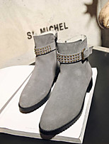 Women's Boots Comfort PU Spring Casual Yellow Gray Black Flat