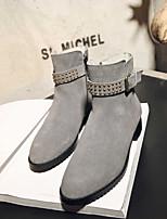 Для женщин Ботинки Удобная обувь Полиуретан Весна Повседневный Черный Серый Желтый На плоской подошве