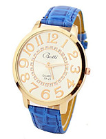 Women's Fashion Watch Quartz PU Band White Blue Khaki