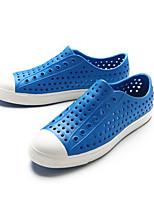 Для мужчин Сандалии Удобная обувь Кольцевые обувь Резина Весна Повседневный Желтый Морской синий Тёмно-синий На плоской подошве