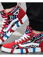 Da uomo Sneakers Di corda Primavera Nero Rosso Blu Piatto