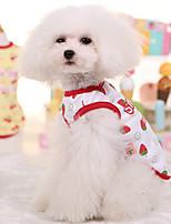 Жилет Одежда для собак Белый Желтый Синий