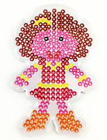 1PCS 5MM Fuse Beads Clear Template Pegboard Stencil Woman Mother Shape Hama Perler Beads Pegboard Kid DIY Handmaking Educational Craft Jigsaw Toy
