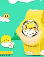 Kid's Fashion Watch Quartz Water Resistant / Water Proof Noctilucent Silicone Band Brown Yellow